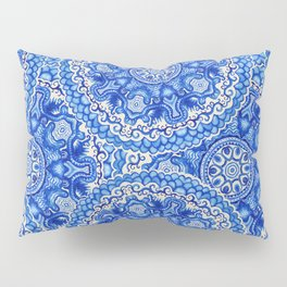 doily watercolor vector gzhel pattern Pillow Sham