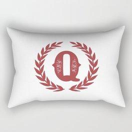 Rustic Red Monogram: Letter Q Rectangular Pillow