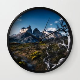 Cuernos del Paine Wall Clock