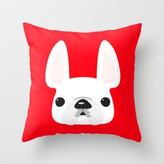White on Red Throw Pillow