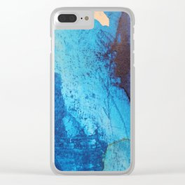 Waves Came Crashing Clear iPhone Case