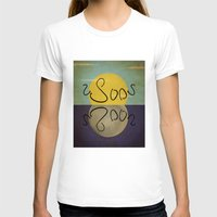 sun and moon T-shirts featuring ambigram sun and moon  by gazonula
