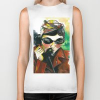 amelie Biker Tanks featuring Amelie by Gra Pereira