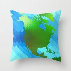 North America Throw Pillow