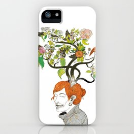 Thinking Green iPhone Case