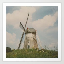 A mill in rural The Netherlands Art Print