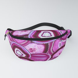 Geode Slices No.1 in Pink Agate Fanny Pack