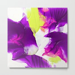 Neon purple and green paintig Metal Print