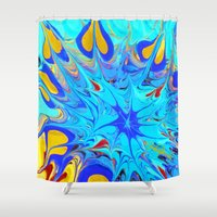 be brave Shower Curtains featuring BRAVE by MAJOOGLE LLC