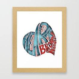 Heartbroken Heroes Graffiti Logo Framed Art Print
