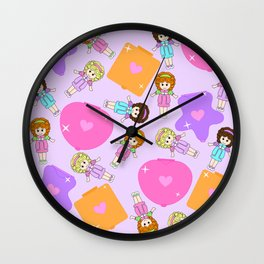 Polly Pastels Wall Clock