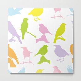 Bird Neck Gator Colorful Birds Bird Metal Print