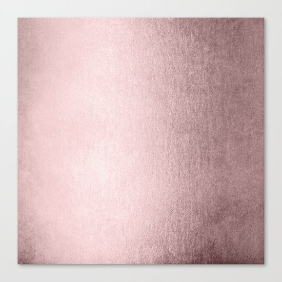 Simply Rose Gold Palace Canvas Print