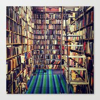 books Canvas Prints featuring Books by Whitney Retter