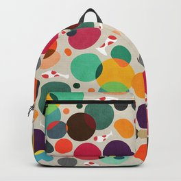 Lotus in koi pond Backpack