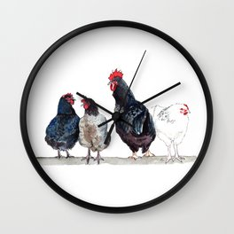 Chicken Squad Wall Clock