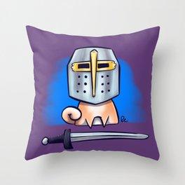 Crusader Shiba Inu Throw Pillow