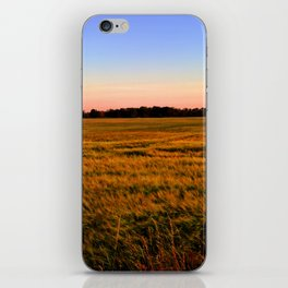 Sunset over the fields iPhone Skin