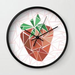 Strawberry geometry Wall Clock