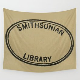 Smithsonian library stamp Wall Tapestry