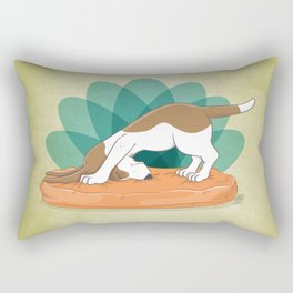 Basset Hound Downward Dog Rectangular Pillow