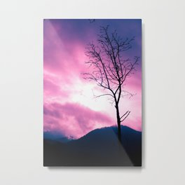 Into the Pink & Purple Sky  - JUSTART © Metal Print