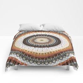 Brown Ink Boho Mandala Comforters