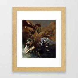 Battle of Gods Framed Art Print