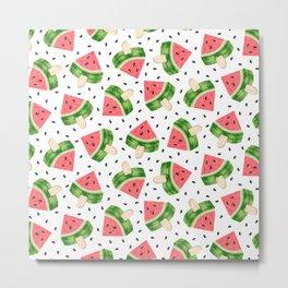 Watermelon Ice cream Metal Print