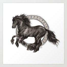 Sleipnir - Odin's Horse - Viking Art Print