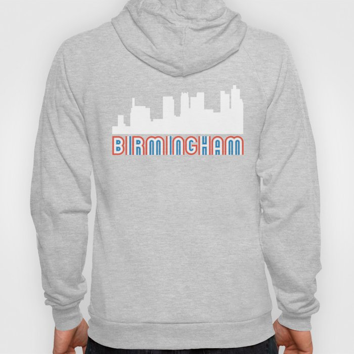 Red White Blue Birmingham Alabama Skyline Hoody