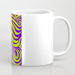 IRON of STEEL green on purple Coffee Mug
