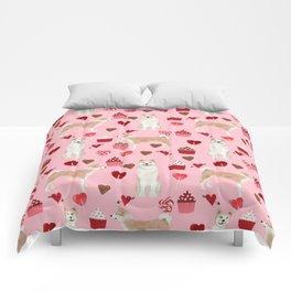 Akita valentines day cupcakes dog breed hearts pet portrait akitas pet friendly Comforters