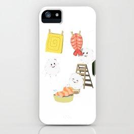 Kawaii Sushi Laundry  iPhone Case