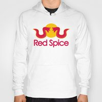 spice Hoodies featuring Red Spice by Optimapress
