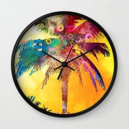 Palm in the Sun Wall Clock