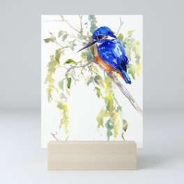 Kingfisher on the Tree Mini Art Print
