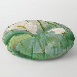 Lotus flowers B - Minhwa-Korean traditional/folk art Floor Pillow