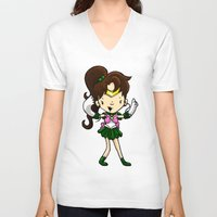 sailor jupiter V-neck T-shirts featuring Sailor Scout Sailor Jupiter by Space Bat designs