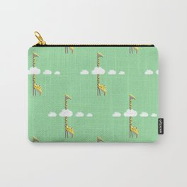 Giraffe with head in the clouds Carry-All Pouch