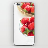 strawberry iPhone & iPod Skins featuring strawberry by yumehana design fine art photography