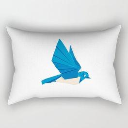 Origami Bluebird Rectangular Pillow