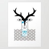 """Deardeer """"Pirate"""" Art Print"""