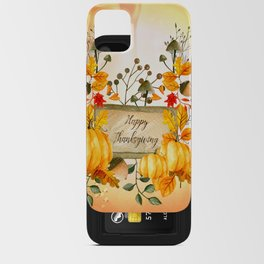 Happy thanksgiving iPhone Card Case