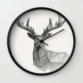 geometric deer custom design Wall Clock