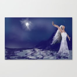 Dance with the moon Canvas Print