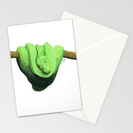 Watercolor snake 3 Stationery Cards