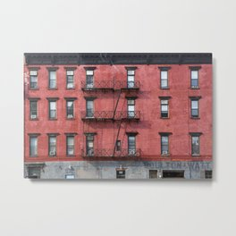 NY Red Brick Metal Print