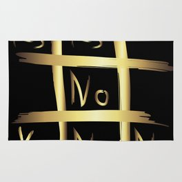 Tic Tac Toe - Yes or No Rug