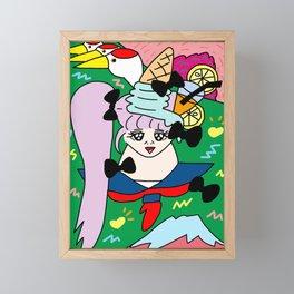 LUCKY GIRL | Takahashi-chan Framed Mini Art Print
